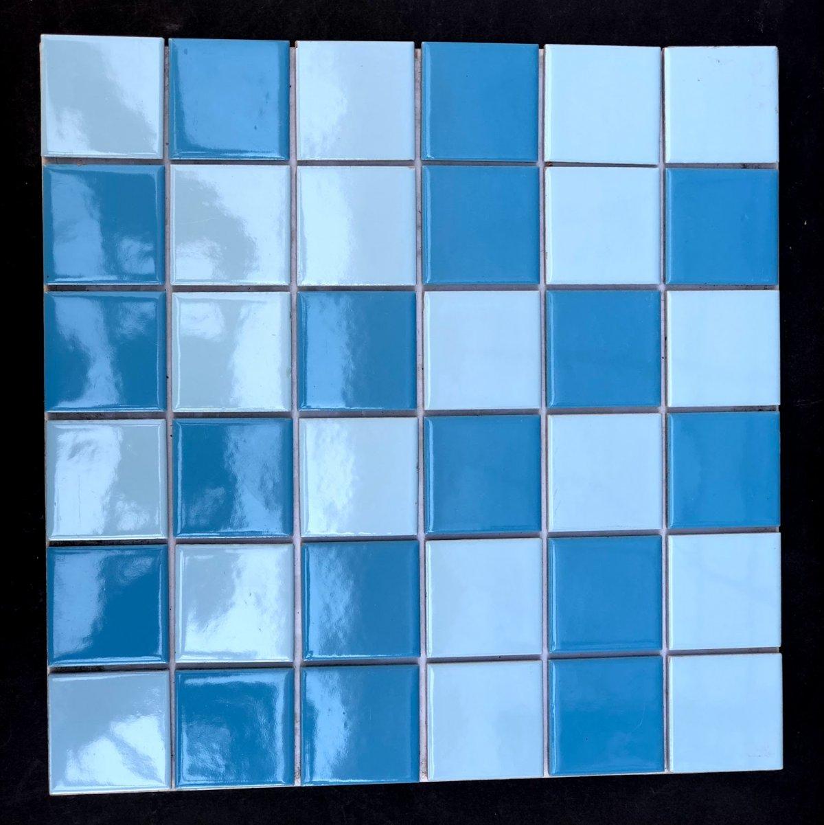 Azul Mesclado Porcelana Esmaltada 5x5cm