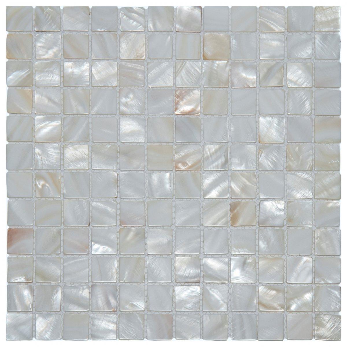Revestimentos da Linha madrepérola da Glass Mosaic #71685A 1200x1200 Banheiro Com Pastilha Madreperola
