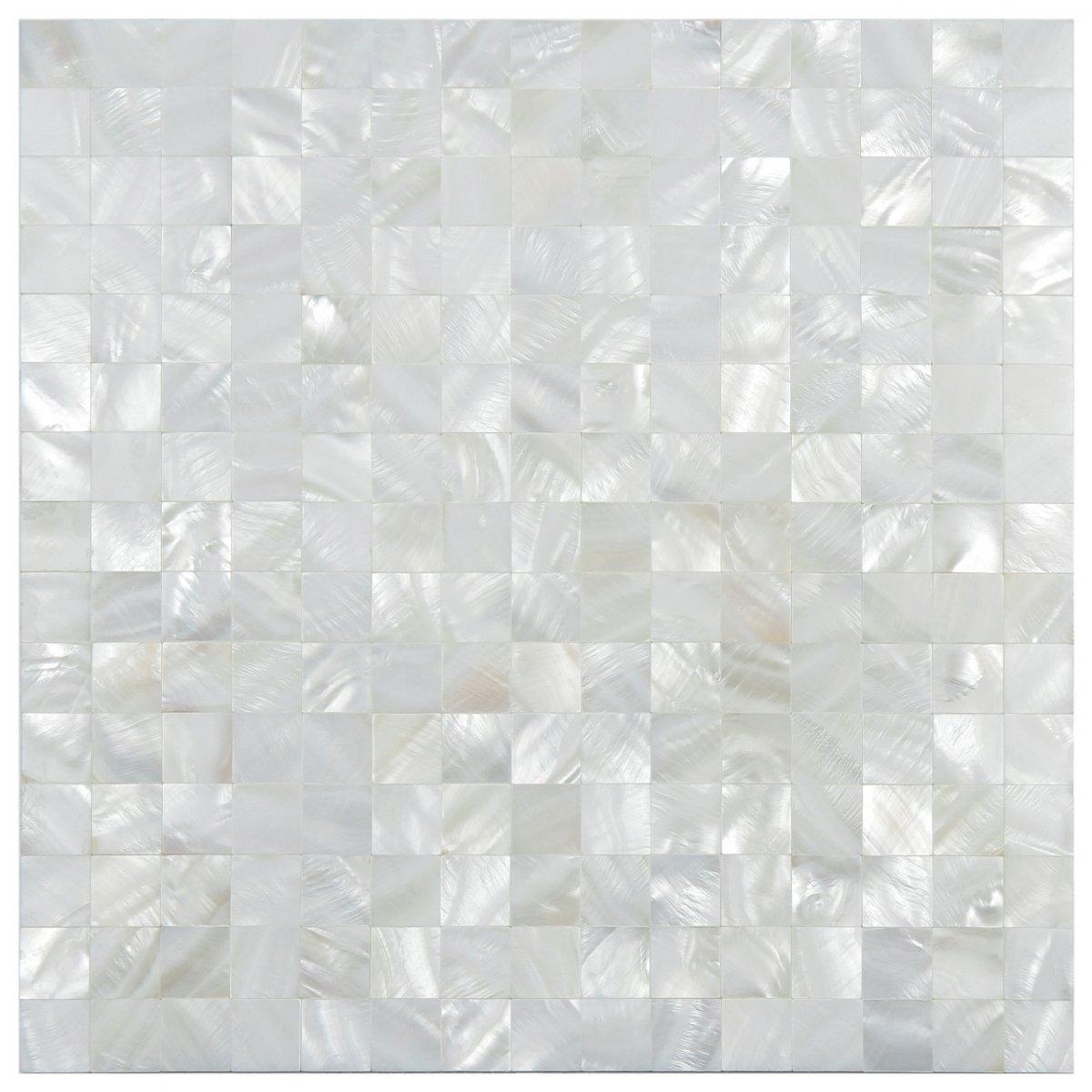 Revestimentos da Linha madrepérola da Glass Mosaic #6F6C5C 1200x1200 Banheiro Com Pastilha Madreperola